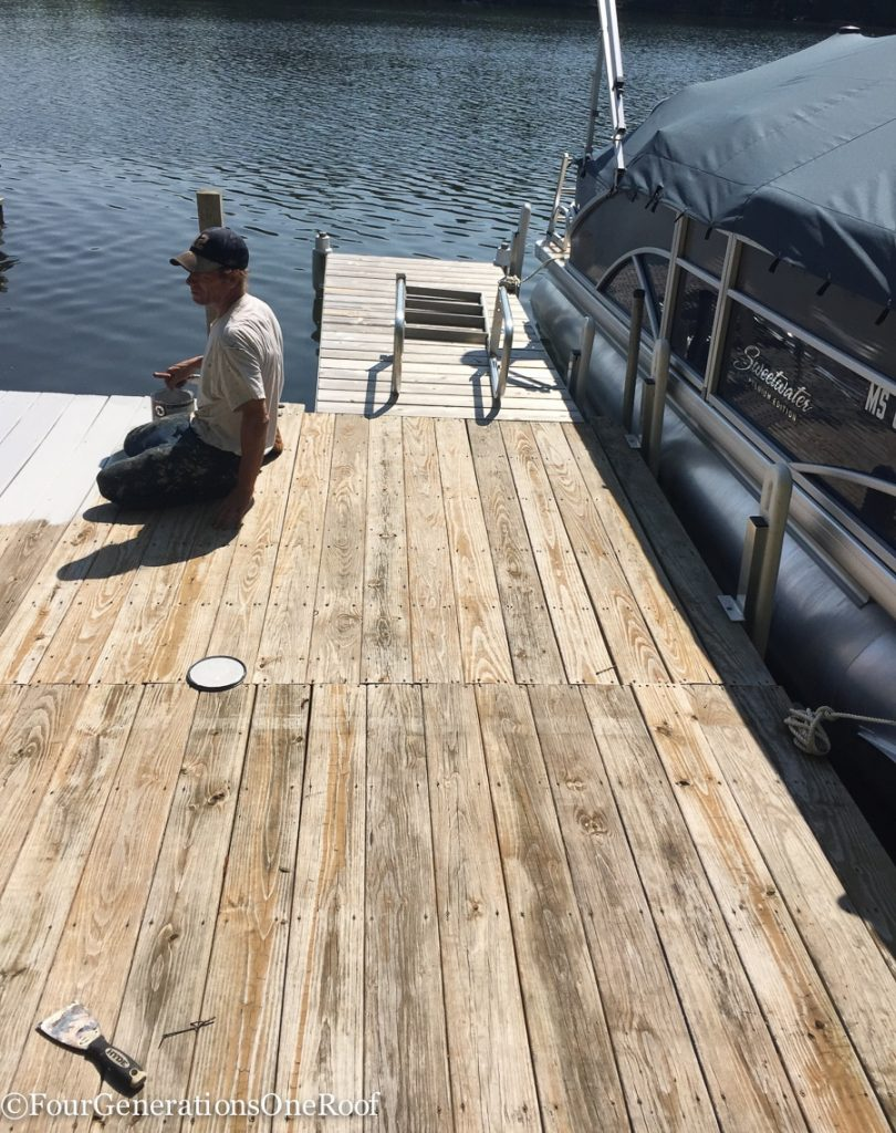 Our New Boat Dock Painted With Sherwin Williams Dock And Deck Paint