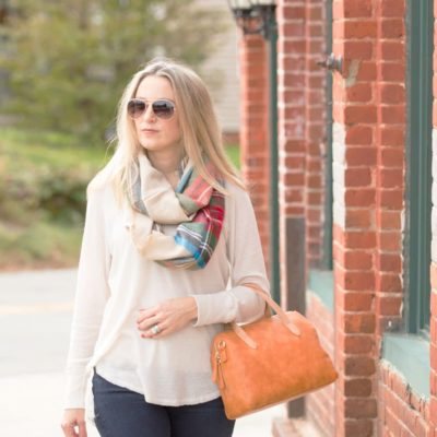 Thermal Top + Scarf {fashion photoshoot last week}