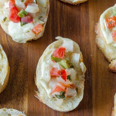 Gourmet Garlic Spread Bruschetta