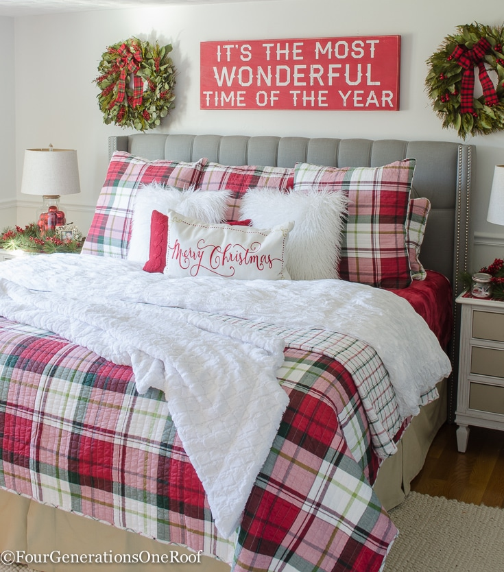 our plaid christmas bedroom 2016 - four generations one roof