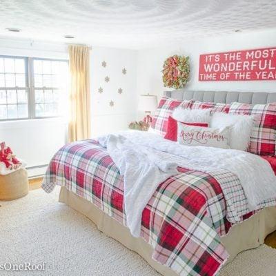 Our Plaid Christmas Bedroom 2016