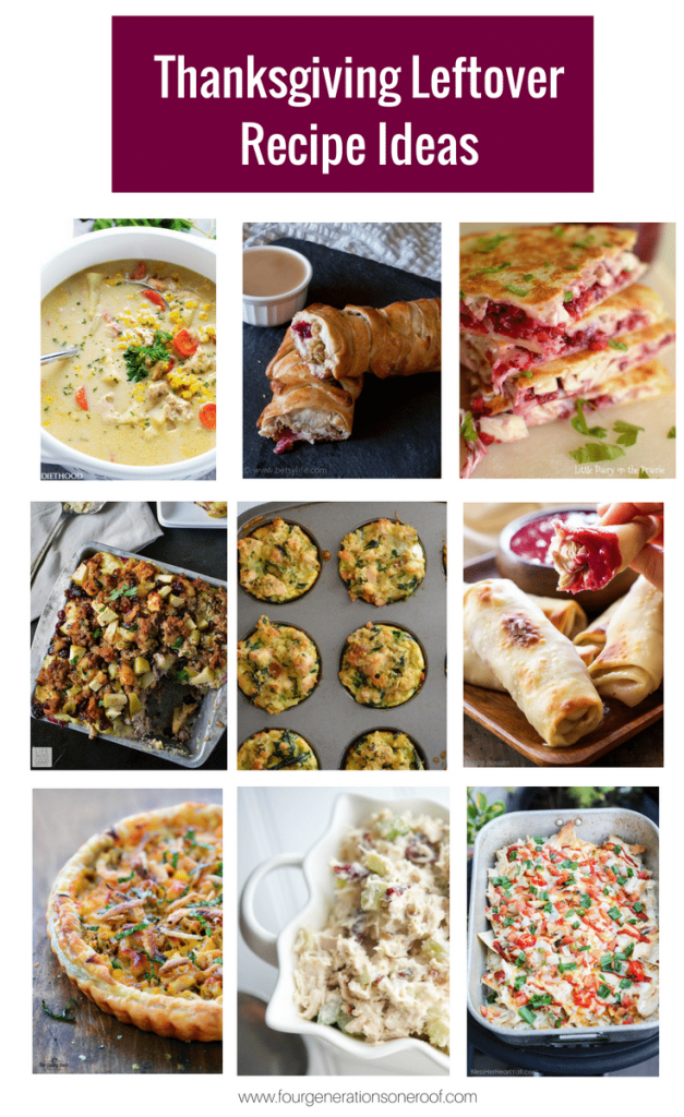 No more worries about there being too much food this year! These Thanksgiving Leftover Recipes will enjoying those delicious dishes for days! | Four Generations One Roof