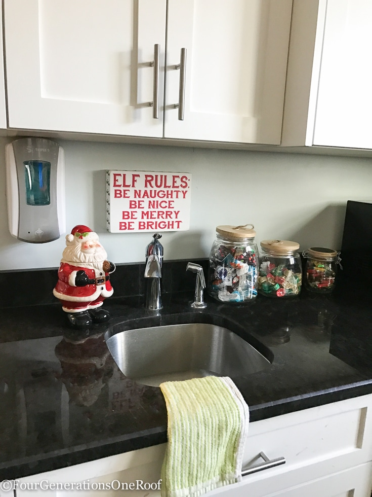 Decorating the Police Station Christmas