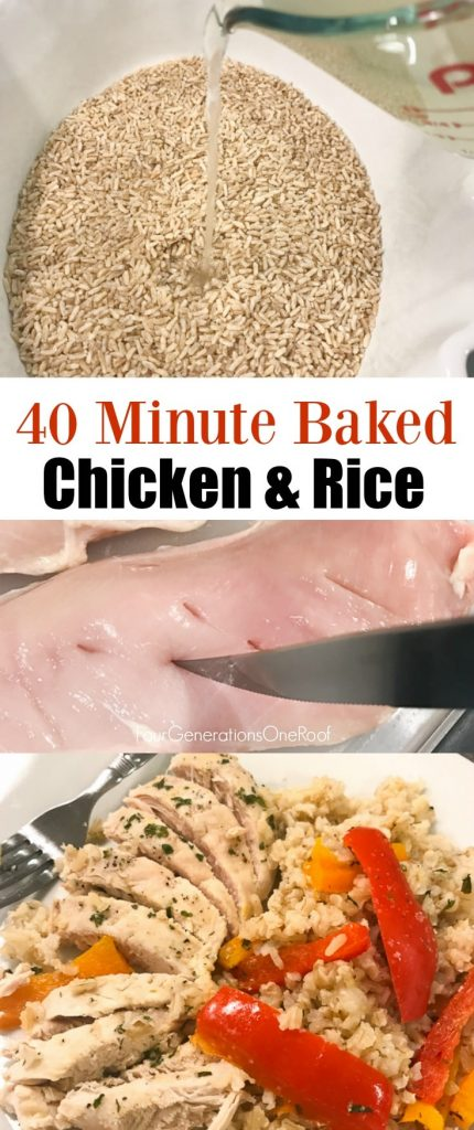 40 Minute Baked Chicken and Rice