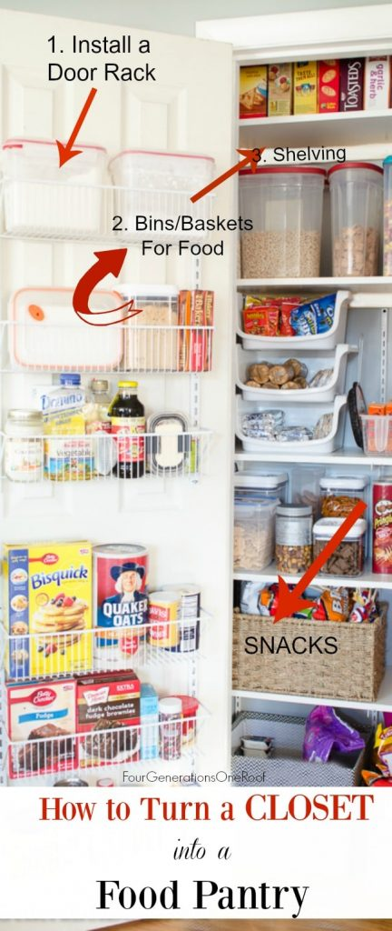 Kitchen Closet Pantry Diy Kitchen Closet Pantry Under 100 Four Generations One Roof