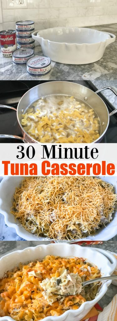 Easy Tuna Casserole Recipe | Made with Cream of Mushroom soup, Egg Noodles, and Cheese