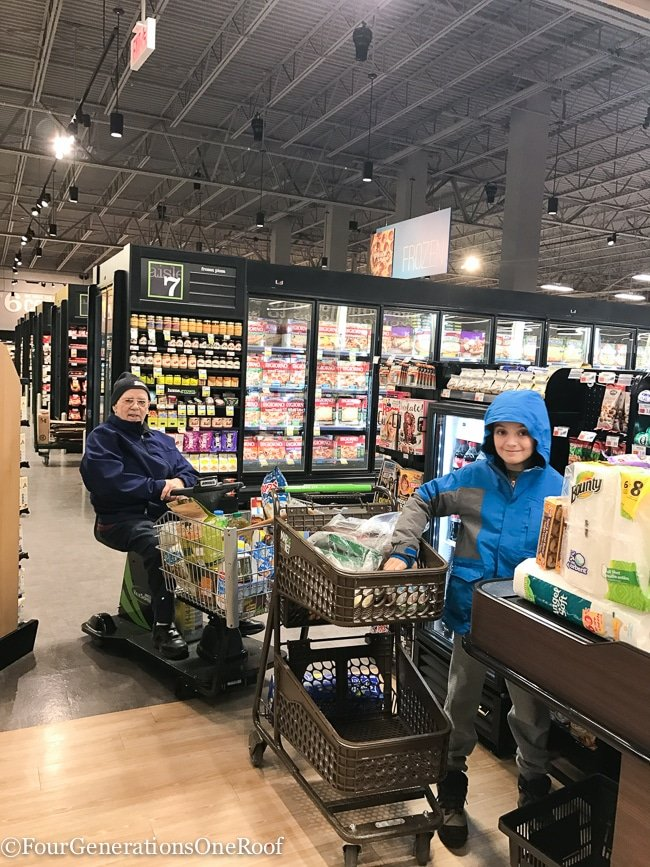 grocery shopping with my grandfather   Multigenerational living