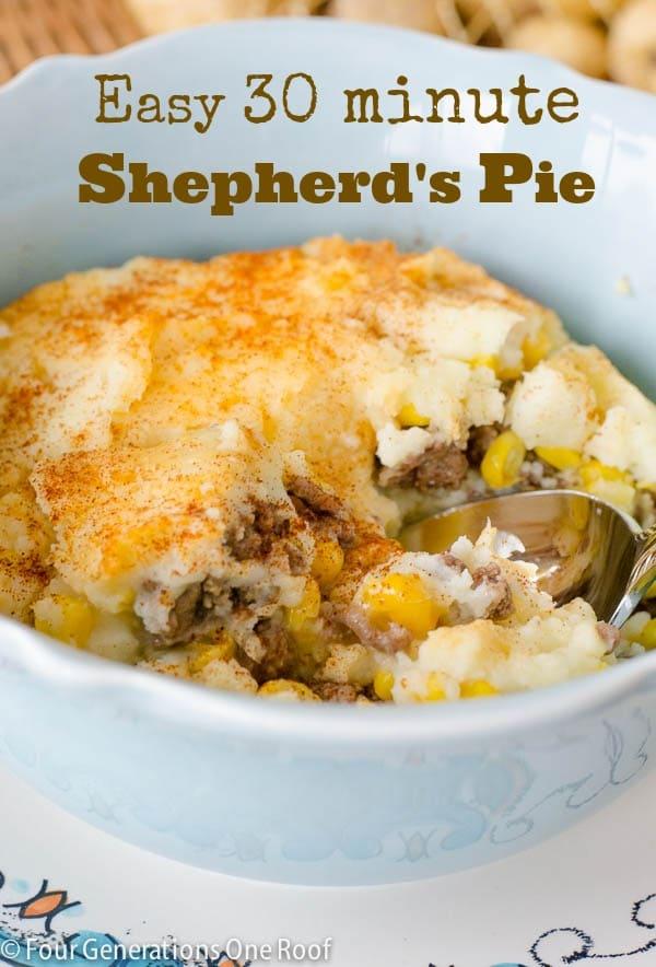 Sweet Potato Shepherd's Pie | Plus an Easy 30 Minute Shepherd's Pie Recipe using Beef