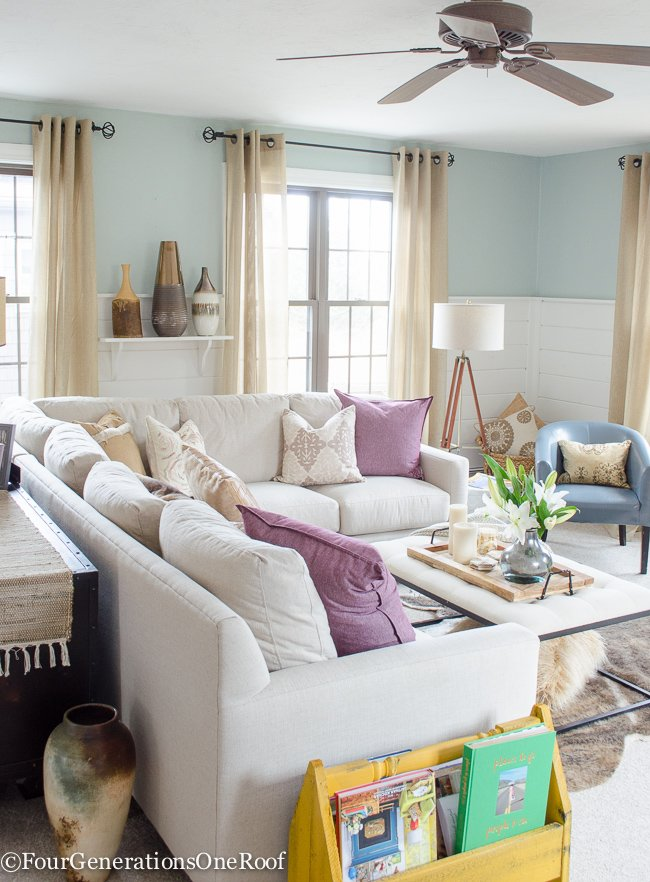 Winter Living Room Decorating Ideas: How To Decorate With Pops Of Color {our Living Room