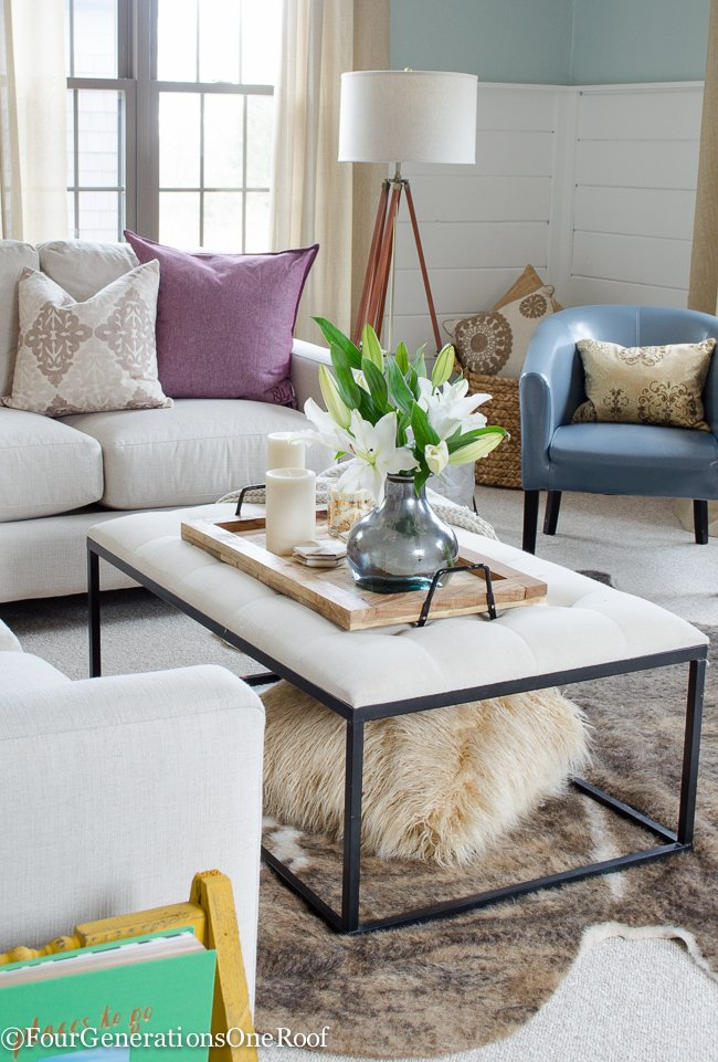 Marvelous Blue + Pink Living Room Decorating Ideas