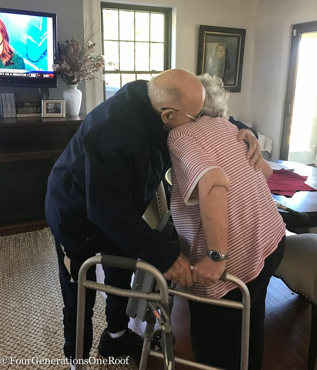 My grandfather is home from the hospital + rehab. Working on managing his dementia & alzheimer's with new medications which hopefully keep him stable.