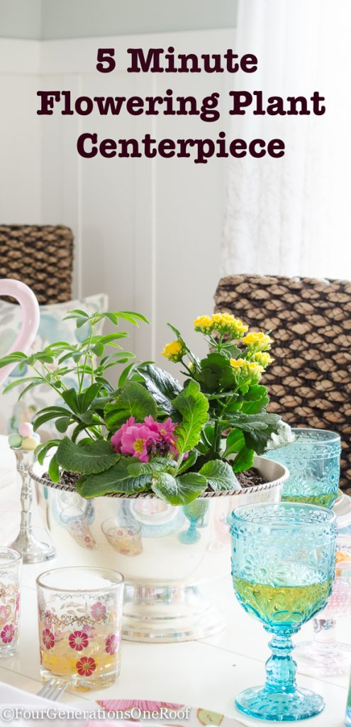 how to make a flowering plant centerpiece in 5 minutes