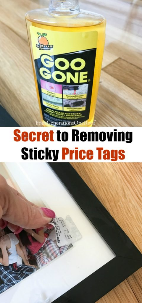 secret decorating tip on how to remove sticky price tags