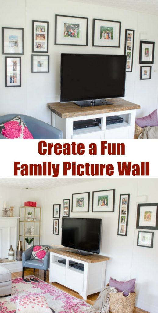 Fun Family Picture Wall Gallery | How to decorate around a TV | Wall Gallery around a TV