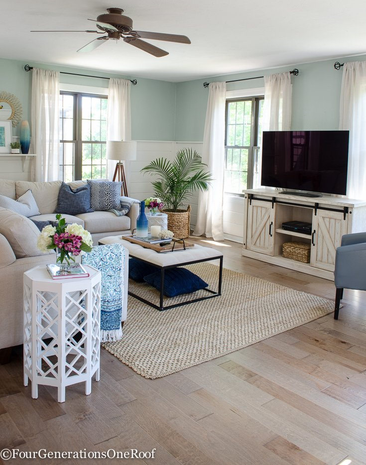 Gorgeous Brown Engineered Hardwood Family Room Reveal Four Generations One Roof