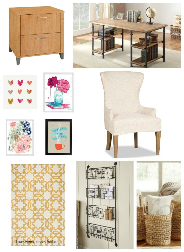 New Office Makeover Project   Modern Farmhouse Office Makeover