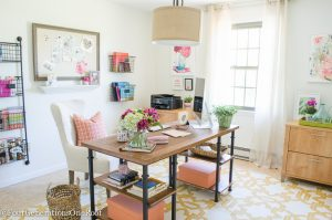My Colorful Modern Farmhouse Office Decorating Ideas