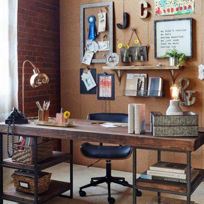 DIY Cork Board Office Wall + Video + gramps