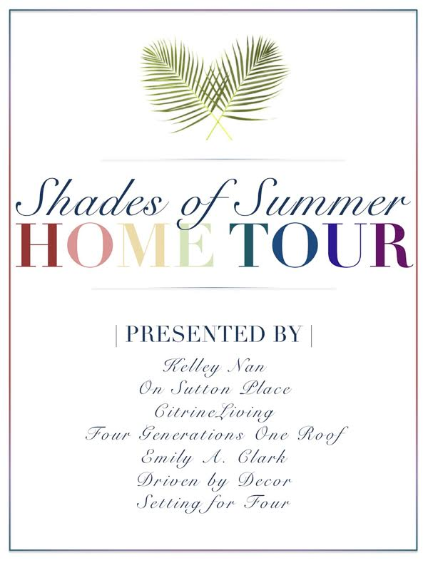 Summer Navy + Pink + Coral styling tips | Shades of Summer Home Tour