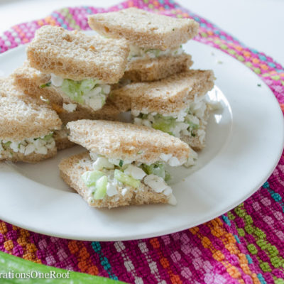 5 minute Cucumber Sandwich + Cottage Cheese