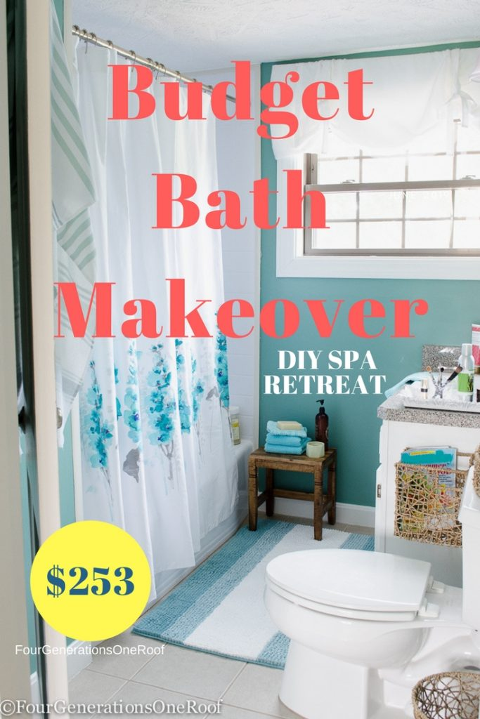 Budget Green Bathroom Spa Makeover