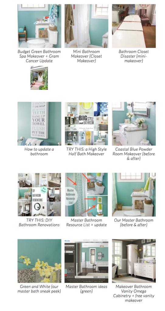 Green Bathroom Spa Makeover   Bathroom Inspiration Ideas  DIY