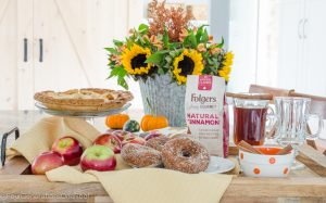 Fall Cinnamon Coffee + Apple Crisp Donuts
