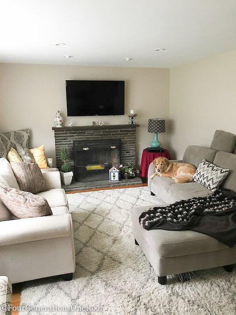 living room makeover. Modern Transitional Living Room Makeover  Step daughters house NEW PROJECT
