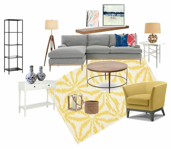 Modern Transitional Living Room Makeover {Step-daughter's house}