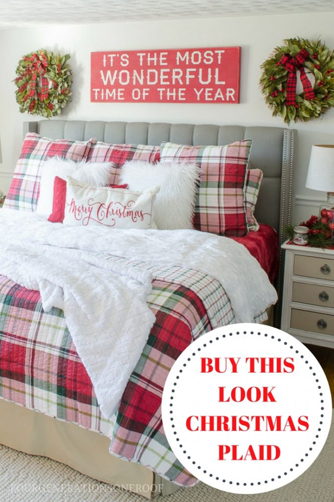 buy our christmas plaid bedding look now get the white pine bedding look using a