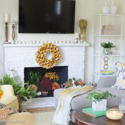 Colorful Transitional Living Room Makeover