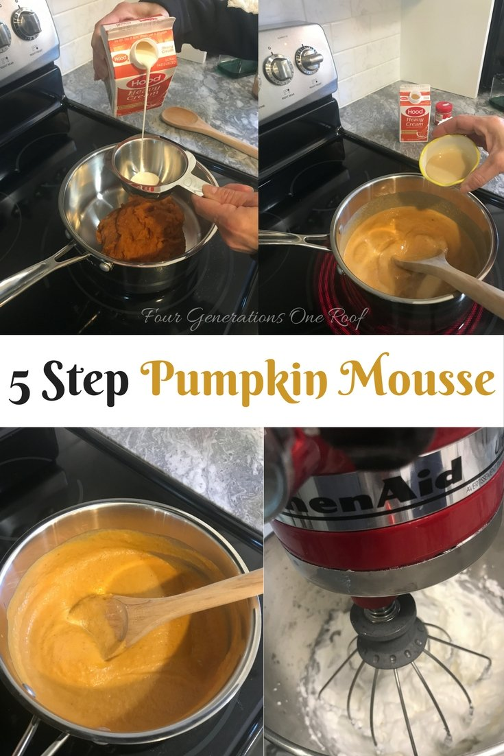 5 step pumpkin mousse recipe