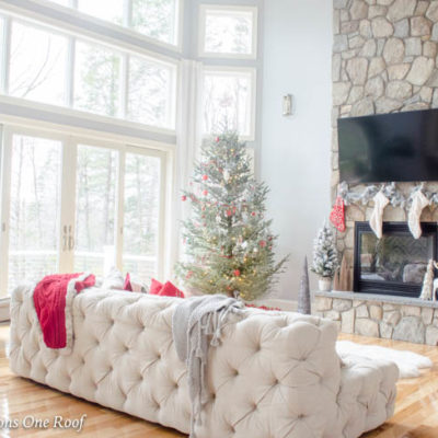 How to Hang Christmas Stockings around a TV