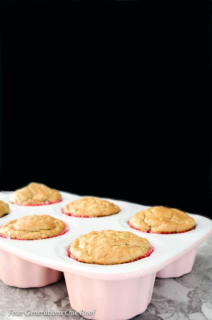 Light Peanut butter banana muffins: Gluten Free