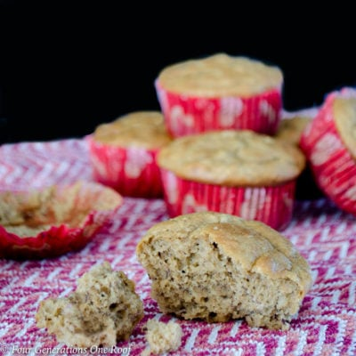 Light Peanut Butter Banana Muffins: Gluten Free