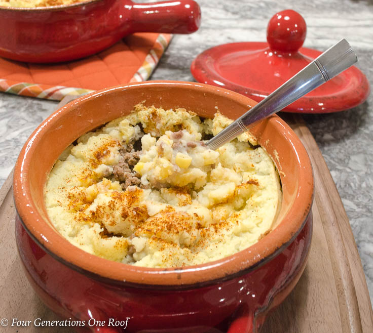 Mom's Instant Potato Shepherd's Pie