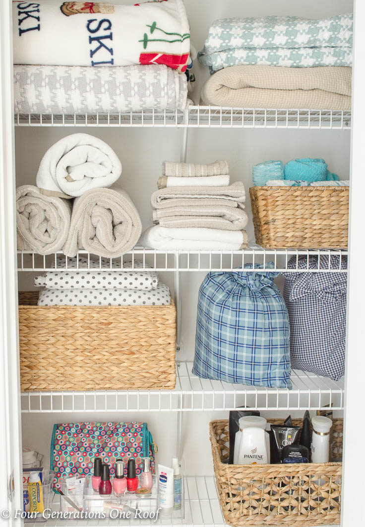 How to Store Bed Sheets In a Pillowcase | 2 Minute Organizing Tips