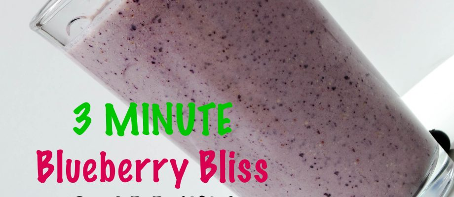 3 Minute Kids Blueberry Bliss Smoothie {Flax Meal}