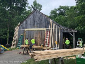 Big Post and Beam Barn Renovation Starts Now
