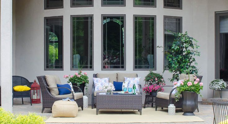 Big Backyard Patio Oasis Project Complete {reveal}