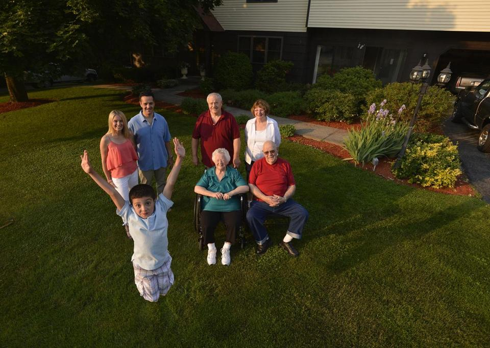 Boston Globe multigenerational family photo