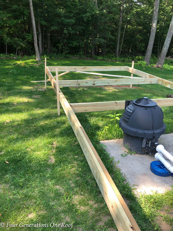 Pressure Treated wood frame around a Pool Filter and pump