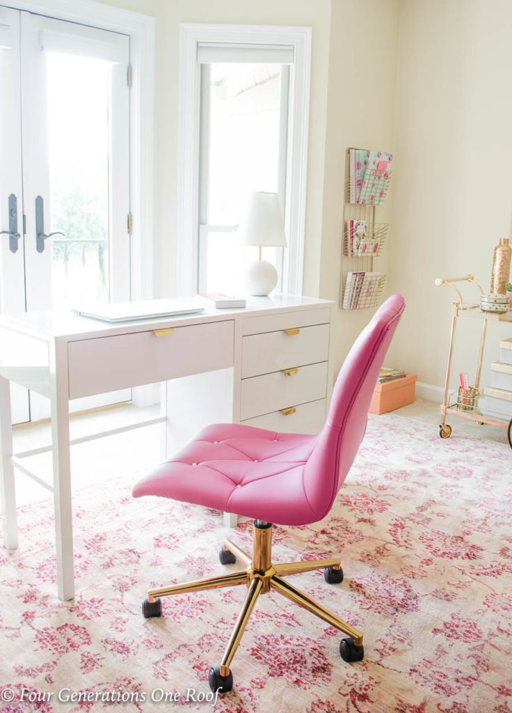 Sophisticated Adult Pink Gold Glamorous Workspace Four