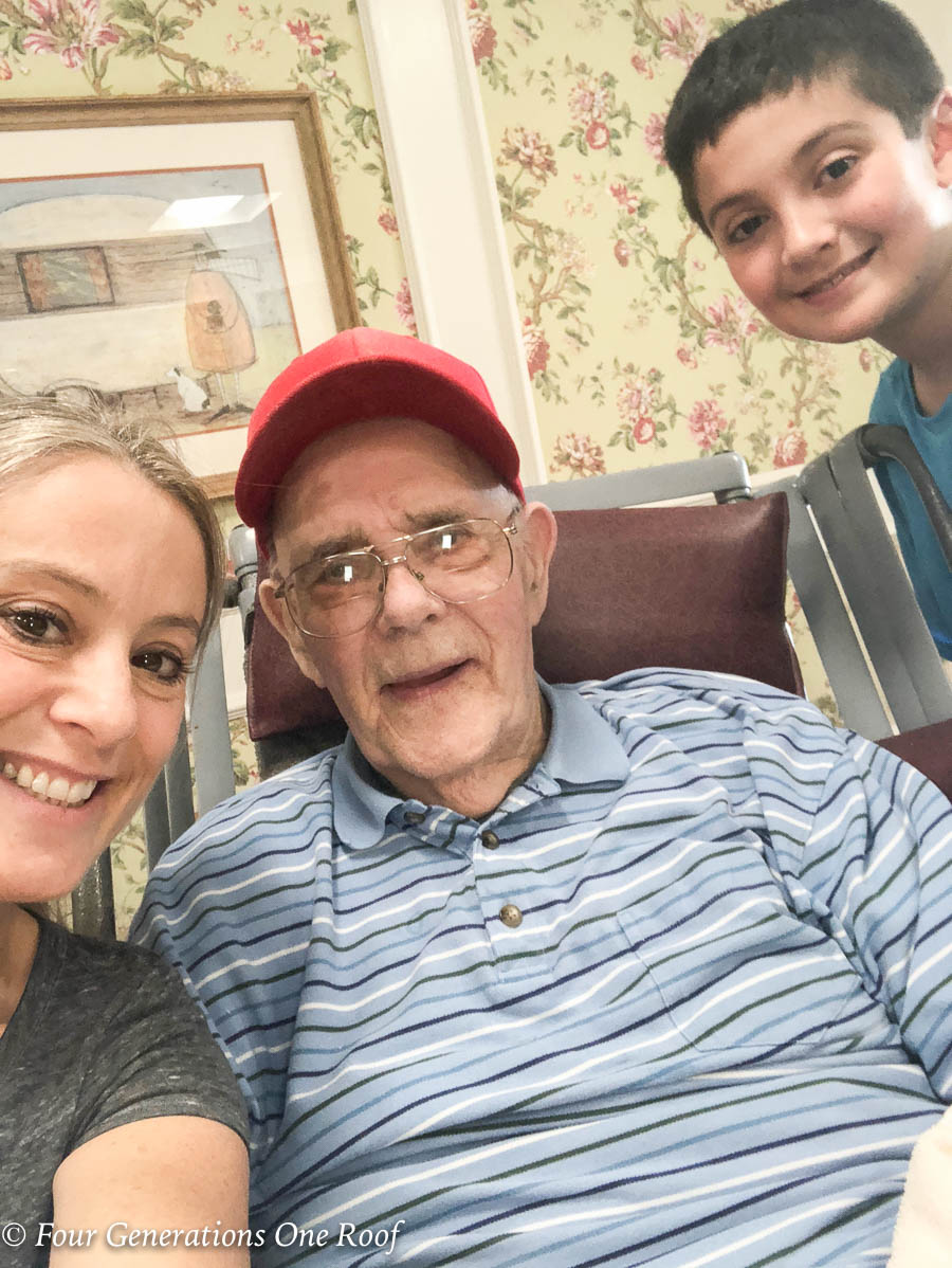 89 year old back on the farm raising a family #multigenerational #dementia #alzhiemers #alz #grandfather #great grandson #granddaughter #family #nursinghome