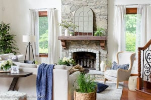 How to Create a Rustic Modern Living Room with 50 foot ceilings + update on gramp