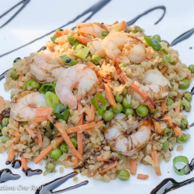 Under 400 Calories Shrimp and Cauliflower Fried Rice Dish