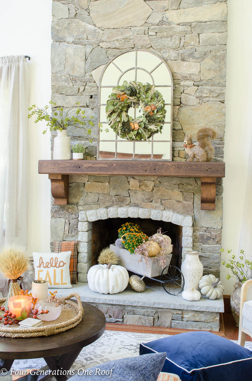 Adventures In Decorating Our 2015 Fall Kitchen: Simple Rustic Modern Fall Decor {Our Mediterranean Fall