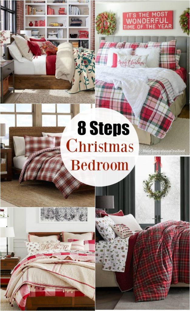 8 Steps How to decorate your Christmas bedroom | Plaid Christmas Bedroom