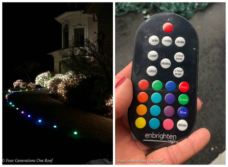 Enbrighten Seasons Color-mini landscaping lights- Easy Outdoor Christmas Lights with Big Impact