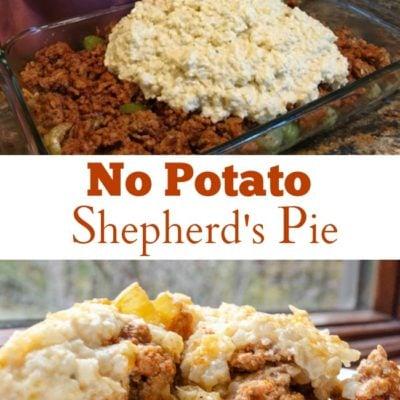 Moms Easy Cauliflower Mash Shepherd's Pie Recipe